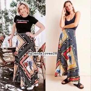 Anthropologie Farm Rio Vieques Maxi Skirt Small